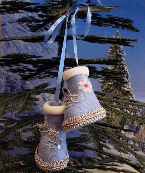 Забавные ботиночки на елку : Мастер-класс…. (6 фото) - картинка