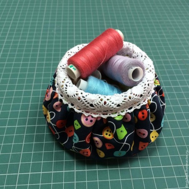 Шьём приятную текстильную вазочку. Мастер-класс… (9 фото) - картинка