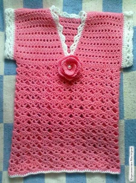 Ажурная жилетка для девочки Мальва (7 фото) - картинка