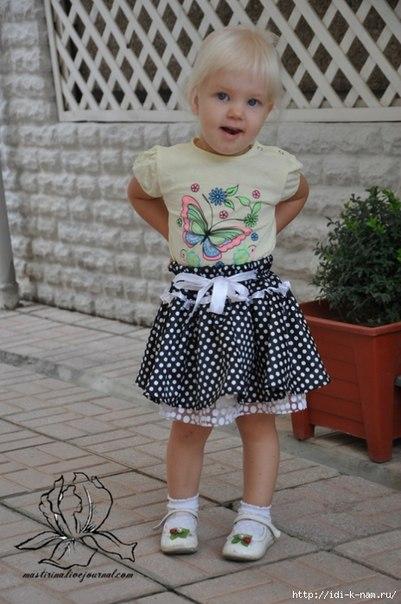 Пышная юбочка для девочки. Мастер-класс… (8 фото) - картинка