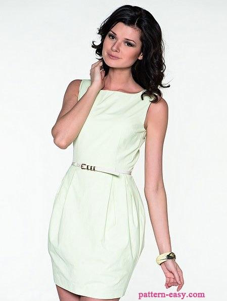 Милое платье. Выкройка (7 фото) - картинка