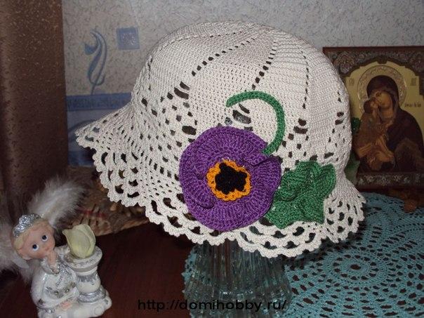 Летняя шляпка с цветком (6 фото) - картинка