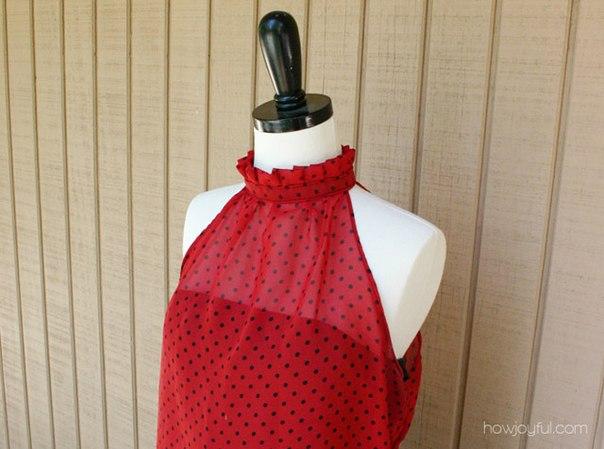Сшить своими руками красивую летнюю блузку. Мастер-класс… (9 фото) - картинка