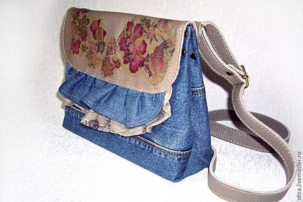Шьем сумочку из старых джинсов или любой ткани… (9 фото) - картинка