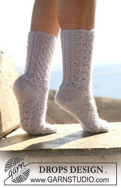 Носки с ажурным узором. Описание (2 фото) - картинка
