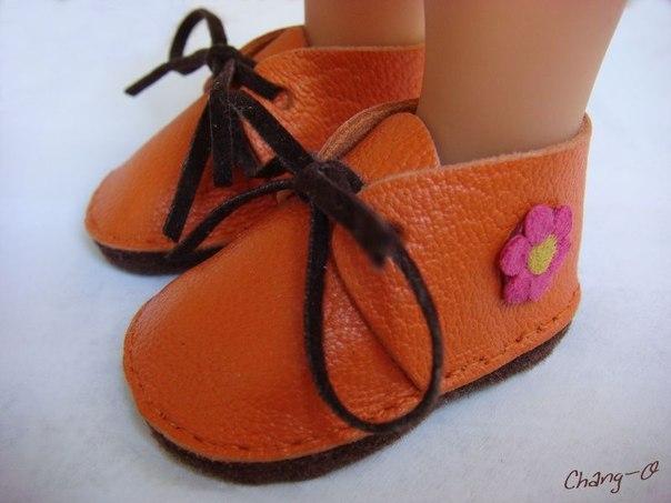 Ботиночки для куклы, выкройка и мастер-класс…. (8 фото) - картинка