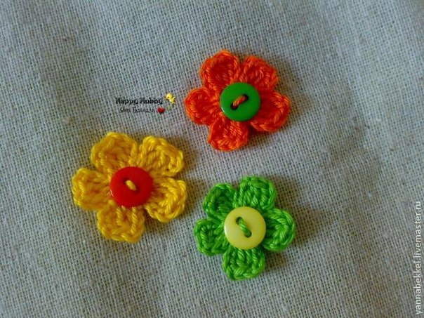 Мастер-класс: вяжем цветок крючком (9 фото) - картинка