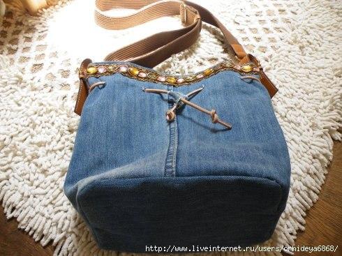 Сумка из старых джинсов (9 фото) - картинка