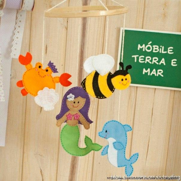Игрушки из фетра (5 фото) - картинка