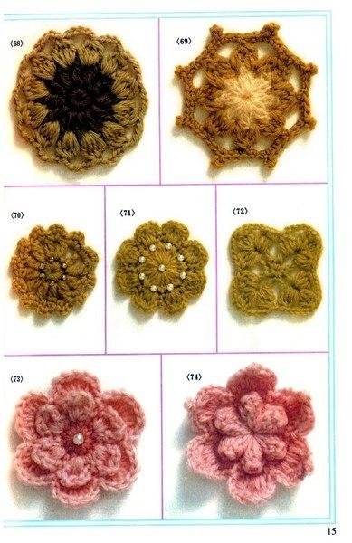Цветы крючком (6 фото) - картинка