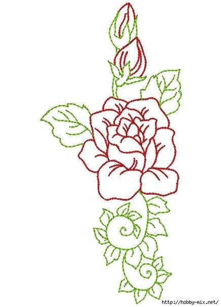 Схемы роз для вышивки