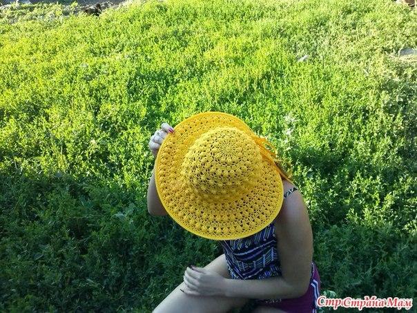 Летняя шляпка крючком (9 фото) - картинка