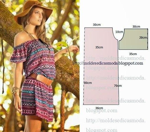 Шьем летние платья. Выкройки. (6 фото) - картинка