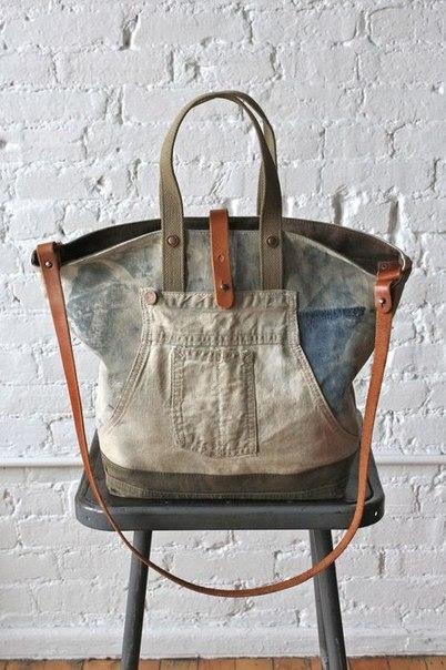 Джинсовые сумочки. Идеи для вдохновения…. (8 фото) - картинка