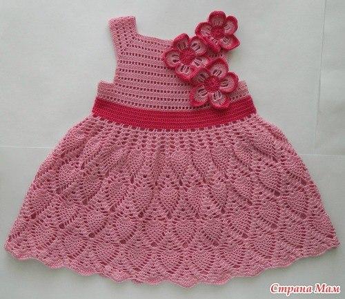 Вяжем летнее платье для девочки (5 фото) - картинка