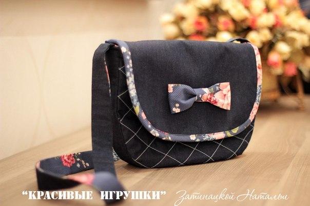 Шьем джинсовую сумочку. Выкройка. (5 фото) - картинка