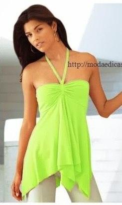 Простая выкройка летней блузки (2 фото) - картинка