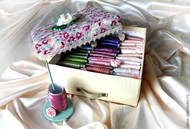 Практичная система хранения ленточек: мастерим красивый контейнер… (9 фото) - картинка