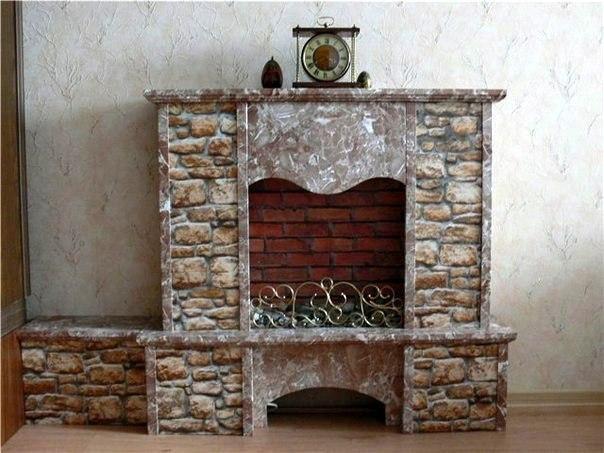 Декоративный камин своими руками (7 фото) - картинка