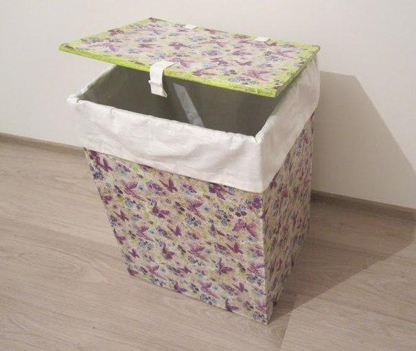 Ящик для белья из картона и бумажных салфеток… (9 фото)