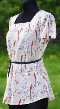 Летняя блузка из хлопка. Выкройка (7 фото)