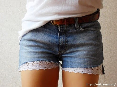 Шорты из старых джинсов (9 фото) - картинка