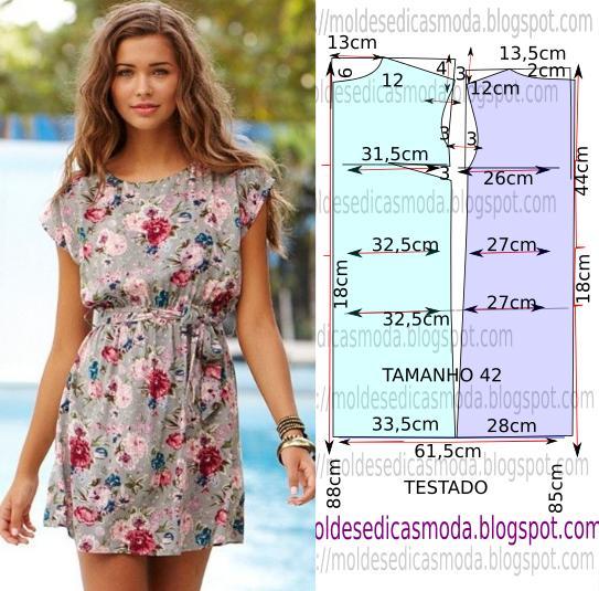 Платье. Выкройка (1 фото) - картинка