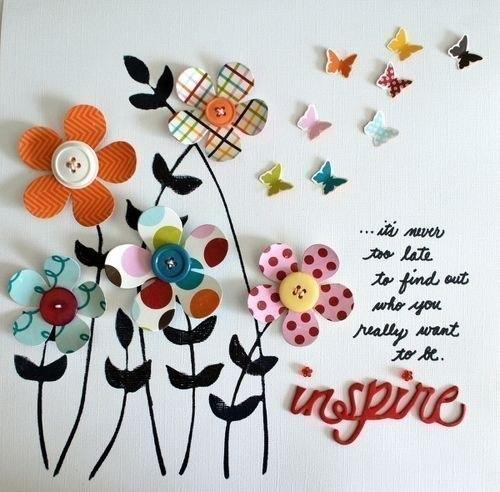 Пуговичные открытки. Идеи для вдохновения…. (6 фото) - картинка