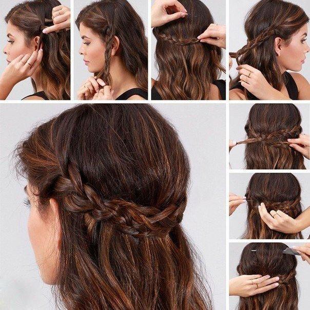 Прически на каждый день средние волосы своими руками фото