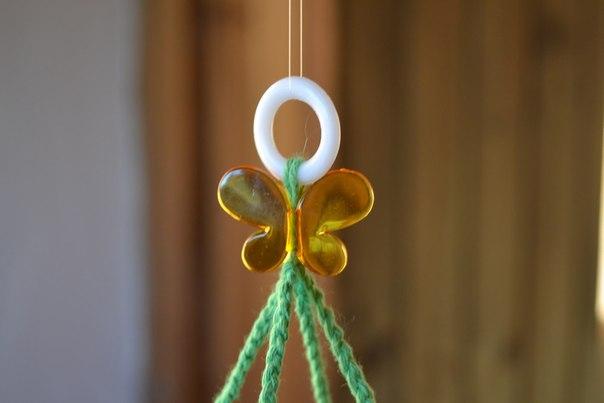 Вязаный мобиль с бабочками. Идея для вдохновения....