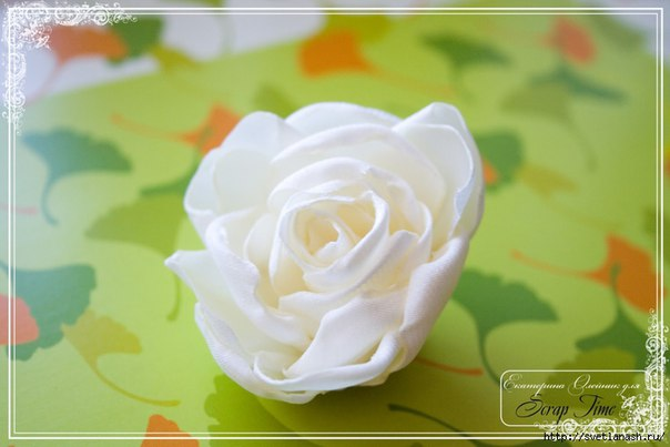 Роза из ткани (9 фото) - картинка