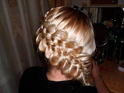 Прическа. Коса из 5 прядей по диагонали…. (9 фото) - картинка