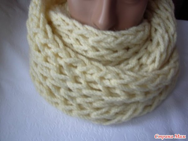Вяжем мягкий и теплый снуд спицами. Вязание онлайн… (3 фото) - картинка