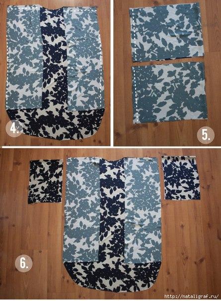 Шьем блузу кимоно