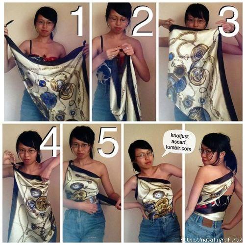 Платок как блузка или топ