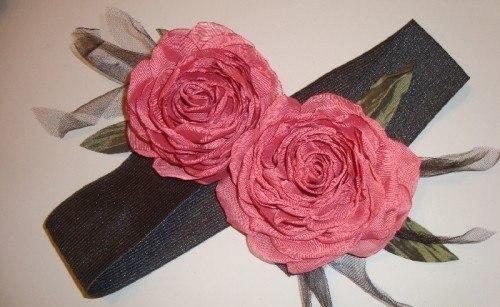Красивая роза из органзы (8 фото) - картинка