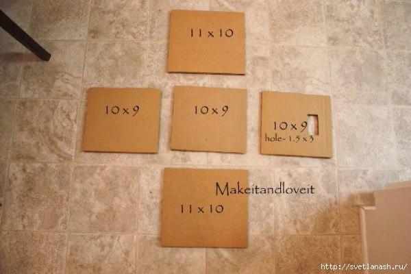 Как сделать ящики для хранения из старых картонных коробок...