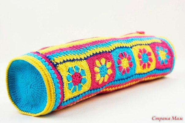 Вязание пеналов крючком