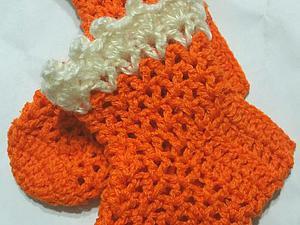 Вяжем крючком ажурные носочки для малыша… (9 фото) - картинка