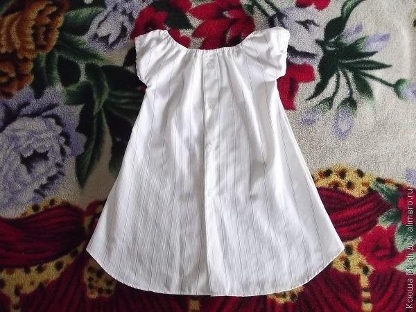 Платье для девочки из рубашки. Мастер-класс… (9 фото) - картинка