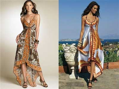 Сарафан из шелковых платков (3 фото) - картинка