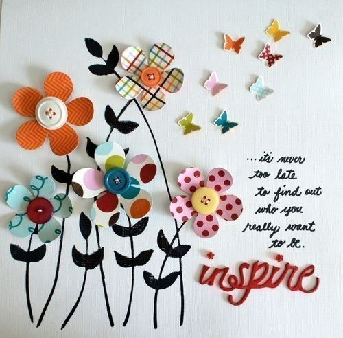 Открытки из пуговиц. Идеи для вдохновения…. (6 фото) - картинка