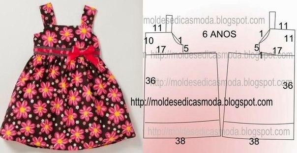 Фото и выкройки детских платьев