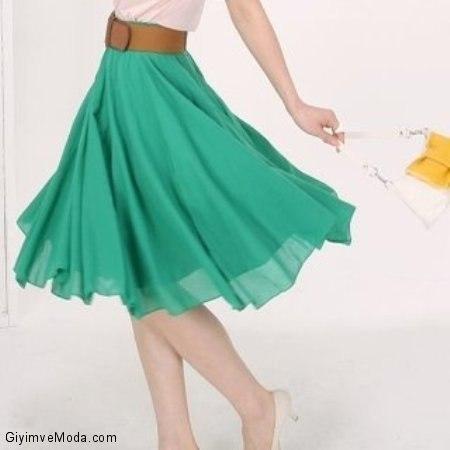 Шьём юбку клёш — полусолнце c одним швом… (6 фото) - картинка