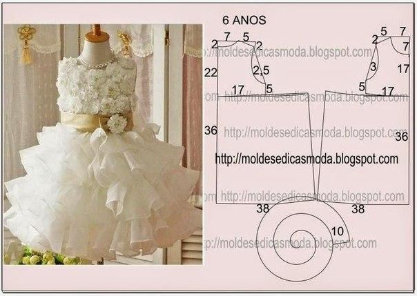 Шьем платья для девочек (8 фото) - картинка
