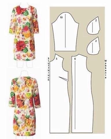 Шьем платья. Простые выкройки. (7 фото) - картинка