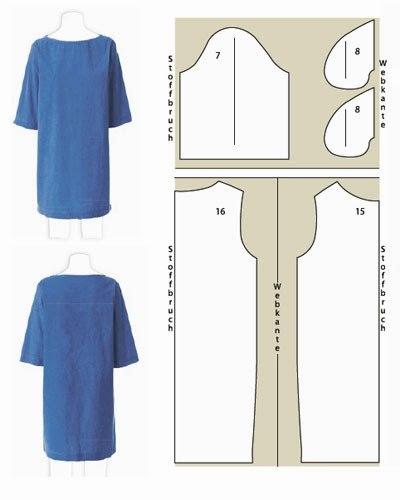 Шьем летние платья. Простые выкройки. (7 фото) - картинка