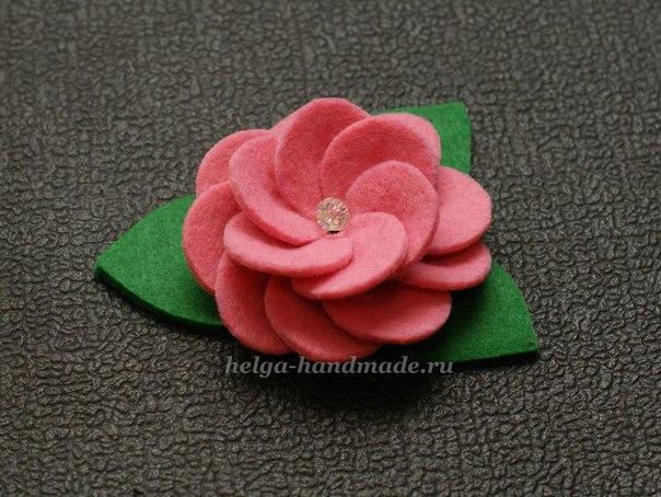 Цветок из фетра (5 фото) - картинка