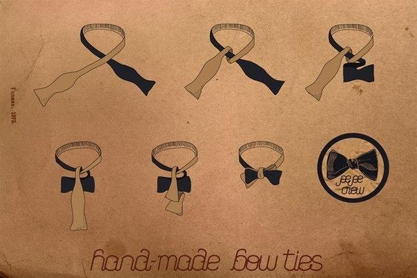 Как сшить галстук бант