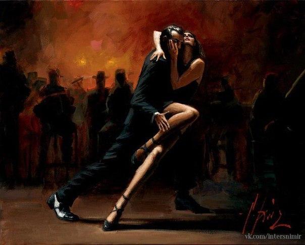 В ритме танго: страстные картины Фабиана Переса (Fabian Perez)